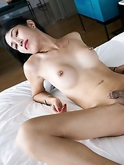 Ladyboy Alisson is showing off her incredible feminine body