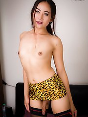 Sexy Ying is a gorgeous Thai tgirl with a sexy slim body, small natural breasts, a hot bubble butt and a delicious uncut cock! Watch this sexy transgi